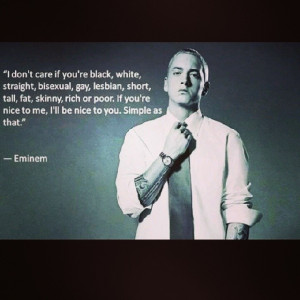 : why are so many terrified of anything different to them? :/ #eminem ...