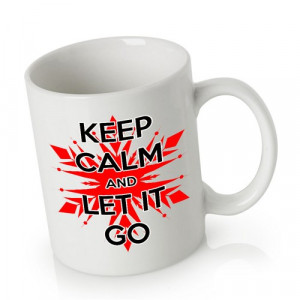 Ceramic Mug Coffee   Keep Calm and Let It Go Frozen Quotes