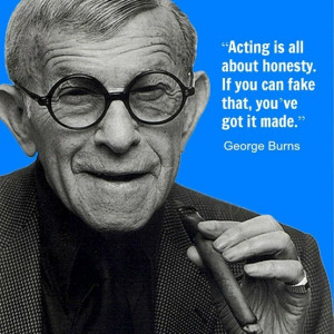 George Burns - Movie Actor Quote - Film Actor Quote #georgeburns