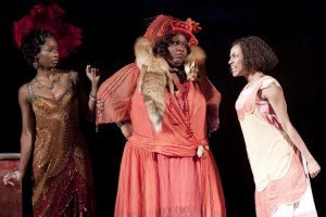 Taprena Augustine (Shug Avery), Pam Trotter (Sofia) and Allison Semmes ...
