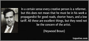 sense every creative person is a reformer, but this does not mean ...