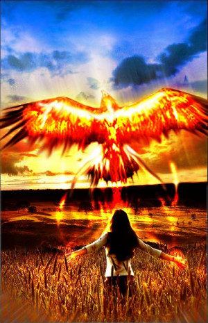 phoenix is a mythical bird that never dies the phoenix flies far ahead ...