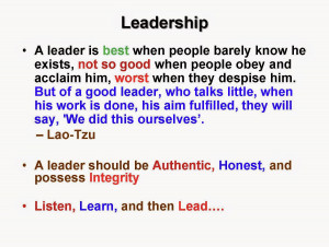 Leadership and Quality Professionals