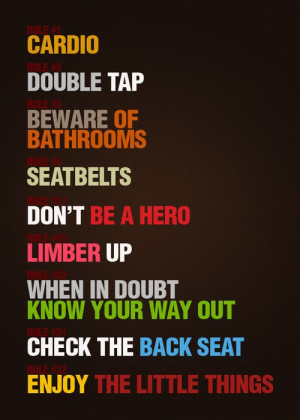 Zombieland Rules For Survival:CardioDouble TapBeware of ...