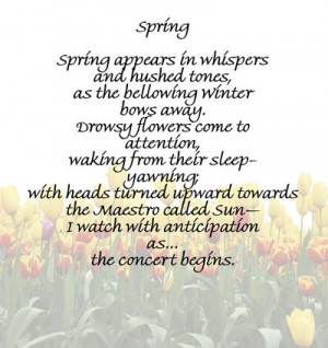 spring poems and quotes