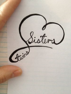 Twin Sister Tattoos Ideas Twin sister tattoo by yours