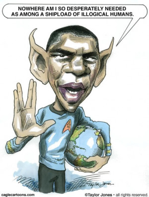 Barack Obama - Star Trek by Taylor Jones, Politicalcartoons.com , Buy ...