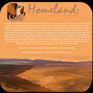 homeland - a spirit stallion of the cimarron RPG.