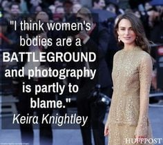 Keira Knightley Protests Photoshop Keira Knightley just joined the ...