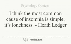 Cause of insomnia: loneliness