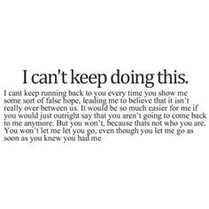 False hope.
