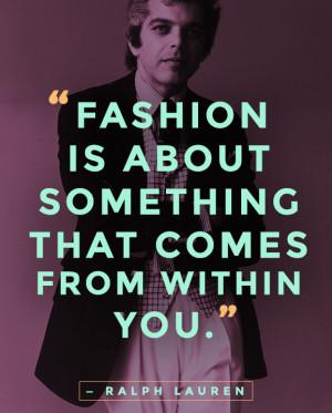 Ralph Lauren Famous Quotes About Fashion