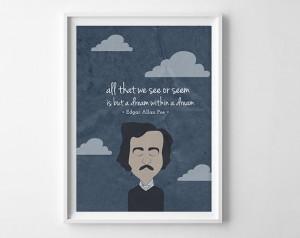 Edgar Allan Poe Quote - Dream within a dream