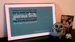 Glorious Birds - Harold and Maude quote poster 11x17 $8