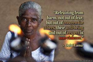 ... others, their well-being and out of respect is non-violence