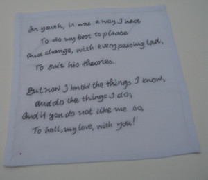 ... cocktail napkins with quotes from Dorothy. You can see them all here