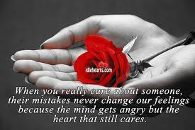 When you truly care for someone..
