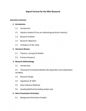 Basic Research Report Template