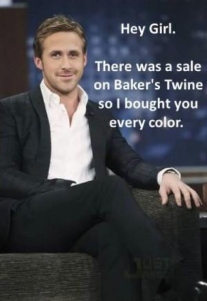 Ryan Gosling is gek op handgemaakte spulletjes