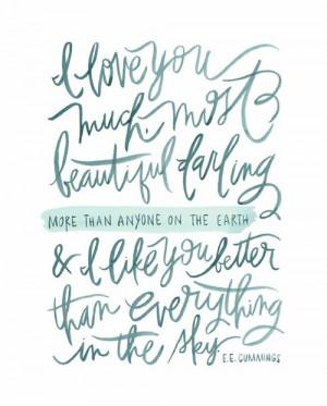 Print Design / Identity / E. E. Cummings quote on We Heart It. http ...