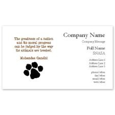 Gandhi Animal Quote Business Cards for