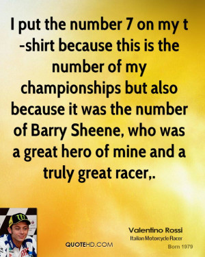 ... of Barry Sheene, who was a great hero of mine and a truly great racer