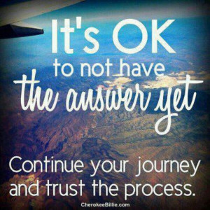 Trust that its all going to be ok