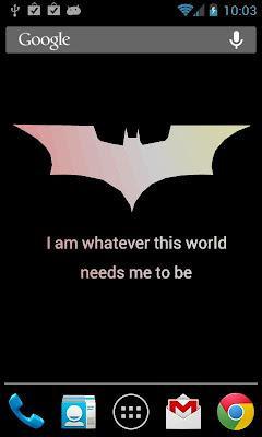 Batman Quotes LWP Screenshot 5