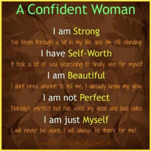 Self worth makes a woman more beautiful