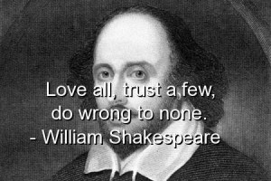 William shakespeare quotes sayings love trust wrong