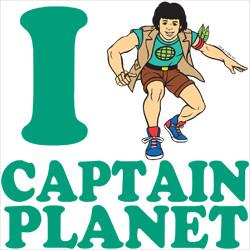 ... Show Quotes > Captain Planet TV Shirts > I Heart Captain Planet Shirt