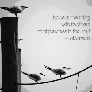 Inspirational Art Print - Emily Dickinson Quote, Seagulls on a Rope ...
