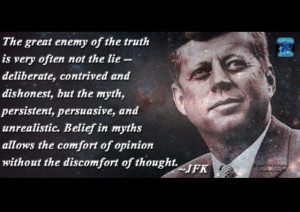 JFK was obviously not an atheist but it definitely fits.