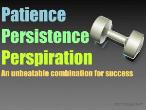 Patience Persistence Perspiration