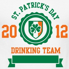 st. patrick's day drinking team - two color Polo Shirts