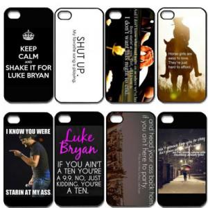 Singer Luke Bryan Lyrics Quote Cell Phones Cover Case for Apple iPhone ...
