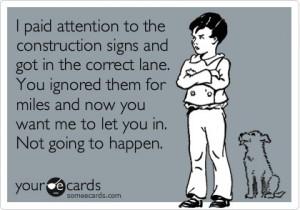 sarcastic quotes, road rage