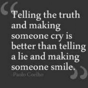 Truth can hurt....