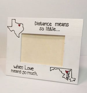 State Picture Frame- Miss you gift, Going away, Long Distance, Moving ...