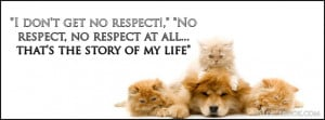 Animals Kitty Cat Dog Quote I Get No Respect Facebook Timeline Cover ...