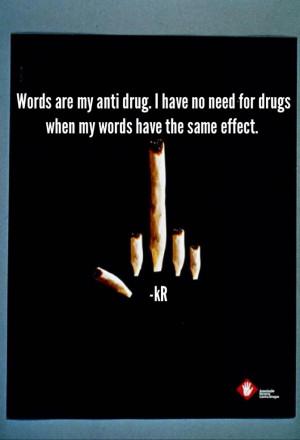 tumblr drug quotes my anti drug