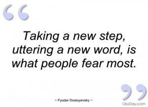 taking a new step fyodor dostoyevsky