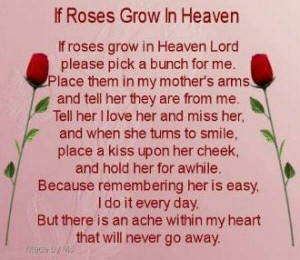 Miss You Mom Rip Quotes Rip mom. love and miss you so much. via ...