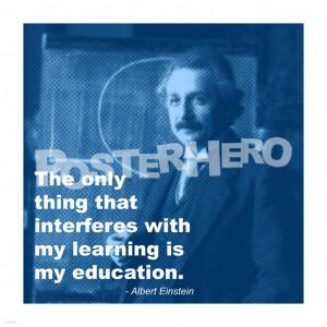 Einstein Education Quote art print
