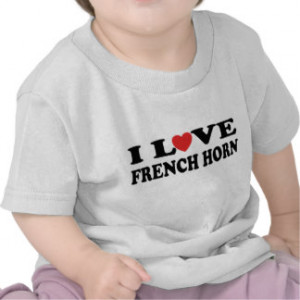 Love French Horn Infant T-shirt