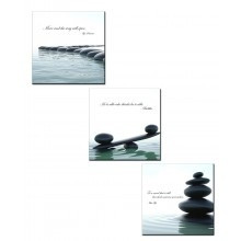 Buddhist Quotes Ceramic Tiles Wall Art - Set of 3