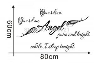 Guardian Angel Wings vinyl wall sticker Quote decal Art baby girl kids ...