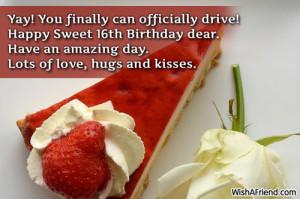 Happy 16th Birthday Son Quotes Happy sweet 16th birthday dear