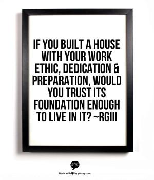 Work ethic & dedication