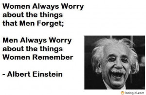 Albert Einstein – Men Vs. Women